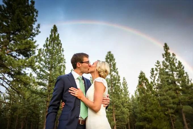 chalet_view_lodge_wedding_portola_california_bride_groom_kissing_rainbow_johnstone_studios_13