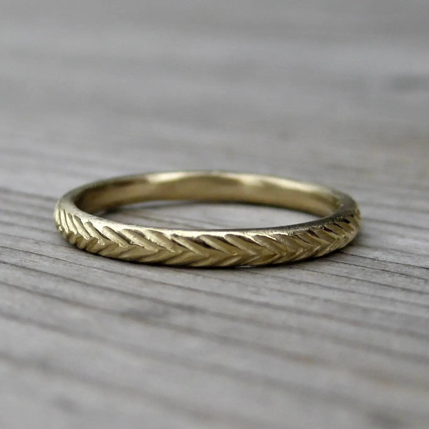 Mountain Wedding Ring 14 Beautiful feather wedding ring rustic