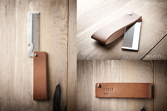 leather comb sleeve