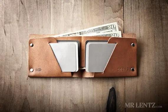 leather groomsmen gifts wallet by mr lentz | via 40+ Best Leather Groomsmen Gifts for Weddings | http://emmalinebride.com/gifts/leather-groomsmen-gifts/