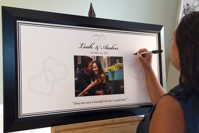wedding guest book poster image