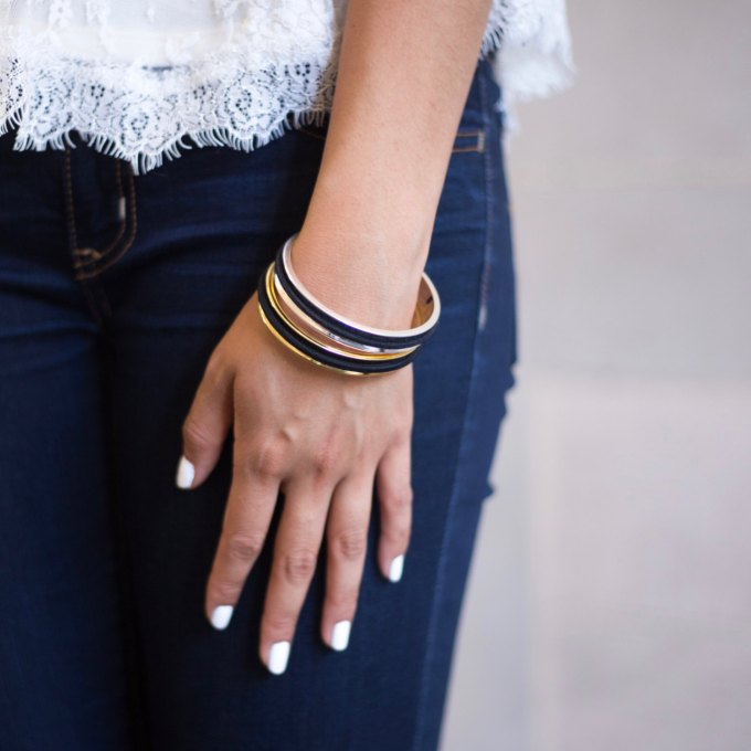 hair tie bracelets from belabracelets | http://emmalinebride.com/gifts/hair-tie-bracelets/