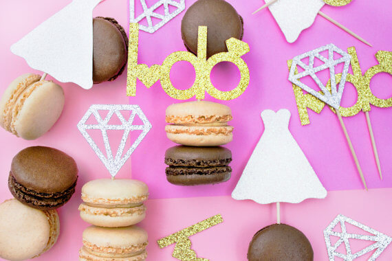 i do cupcake topper set by paperlypress | via 21 Totally Fun Ring Themed Bridal Shower Ideas → http://emmalinebride.com/planning/ring-themed-bridal-shower/
