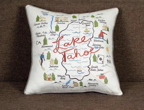lake tahoe pillow by jawdecor