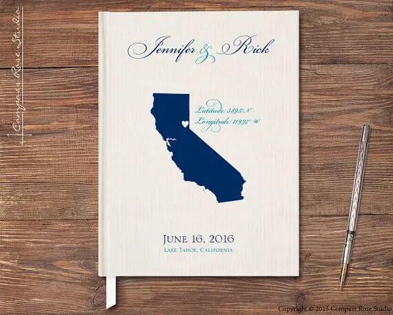 lake tahoe wedding guest book