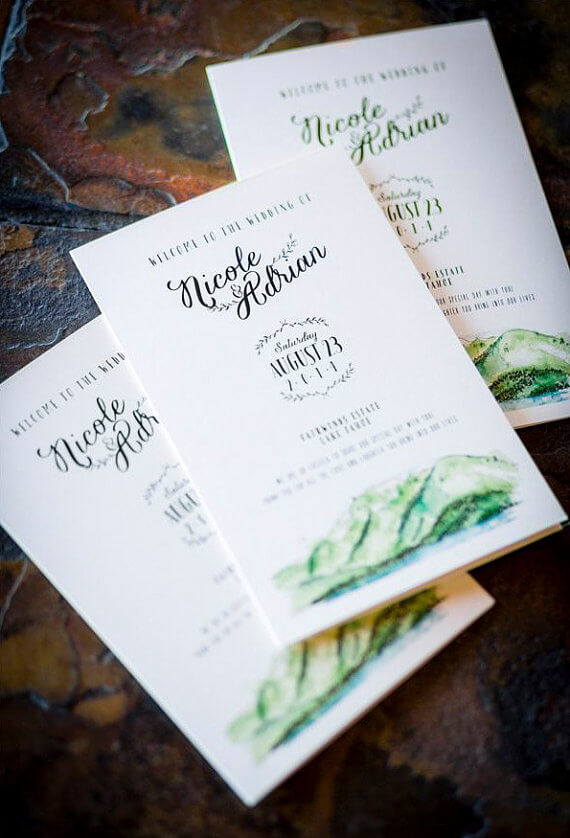 lake tahoe wedding programs by wide eyes paper co