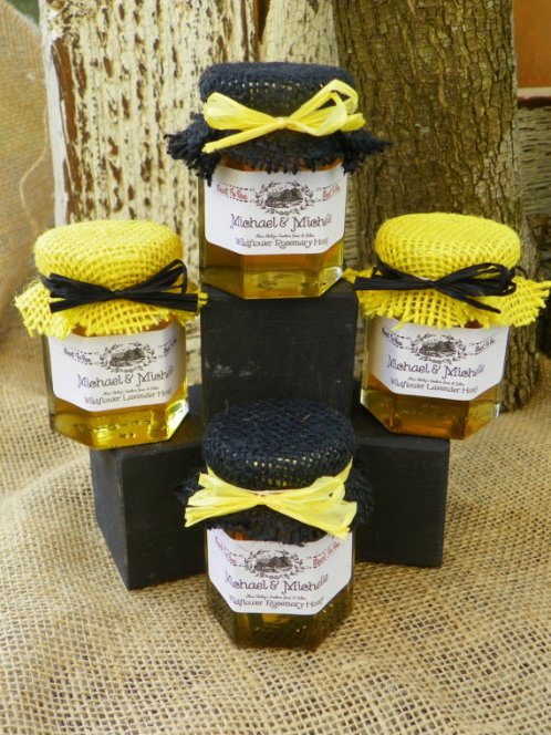 lavender honey jar black and yellow tops