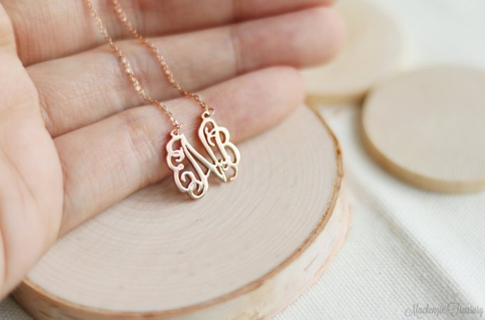 monogram necklace | via 15 Best Gifts for the Bride from Groom + Wedding Gifts for Bride from Groom | http://emmalinebride.com/gifts/gifts-for-the-bride-from-groom/