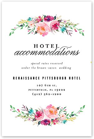 bohemian floral wedding invitations accommodations