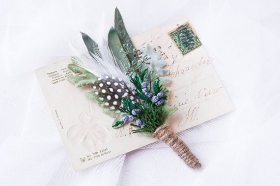 boutonniere | via Sage Wedding Ideas from http://emmalinebride.com/color/sage-green-wedding-ideas/