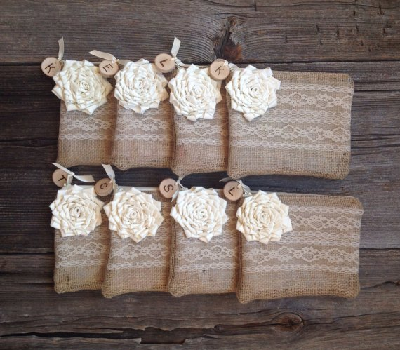 rustic burlap wedding clutch bag for bridesmaids | country bridesmaid gifts under $25 via http://emmalinebride.com/rustic/country-bridesmaid-gifts/