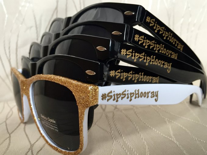 sip sip hooray sunglasses for bridesmaids