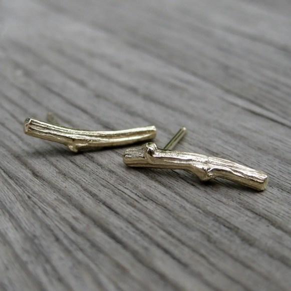 twig-stud-earrings