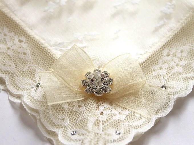 Handkerchief by Aristocrafts | via Where to Buy Wedding Handkerchiefs via Emmaline Bride: http://emmalinebride.com/bride/where-to-buy-wedding-handkerchiefs