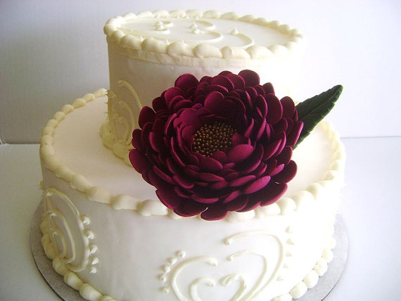 Flower Cake Toppers for Weddings by Parsi