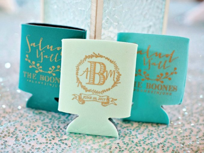 These Drink Koozies Just Upgraded Wedding Favors Bridalpulse