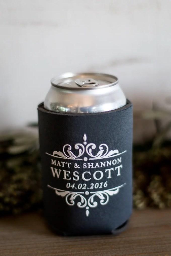Drink Koozies Weddings, Bachelorette Parties & Bridal Showers | By Sip Hip Hooray | http://emmalinebride.com/favors/drink-koozies-weddings/