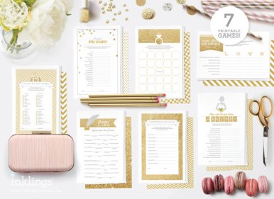 gold-bridal-shower-games