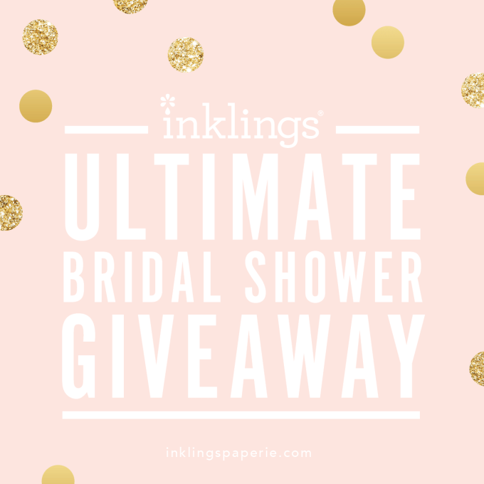 Inklings Paperie Ultimate Bridal Shower Giveaway! | Bridal shower printables and more