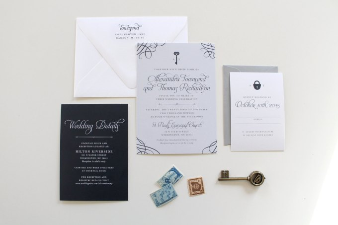Key Themed Wedding Invitations: Emmaline Bride Wedding Blog