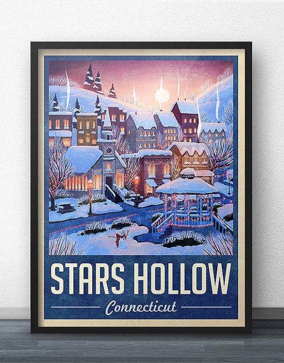 Stars Hollow Poster via 50+ Best Gilmore Girls Gift Ideas http://emmalinebride.com/gifts/50-best-gilmore-girls-gift-ideas/