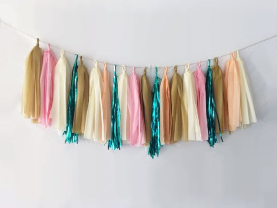 Tassel Garland for Weddings | by EllenorShop | http://etsy.me/2g1BCxj