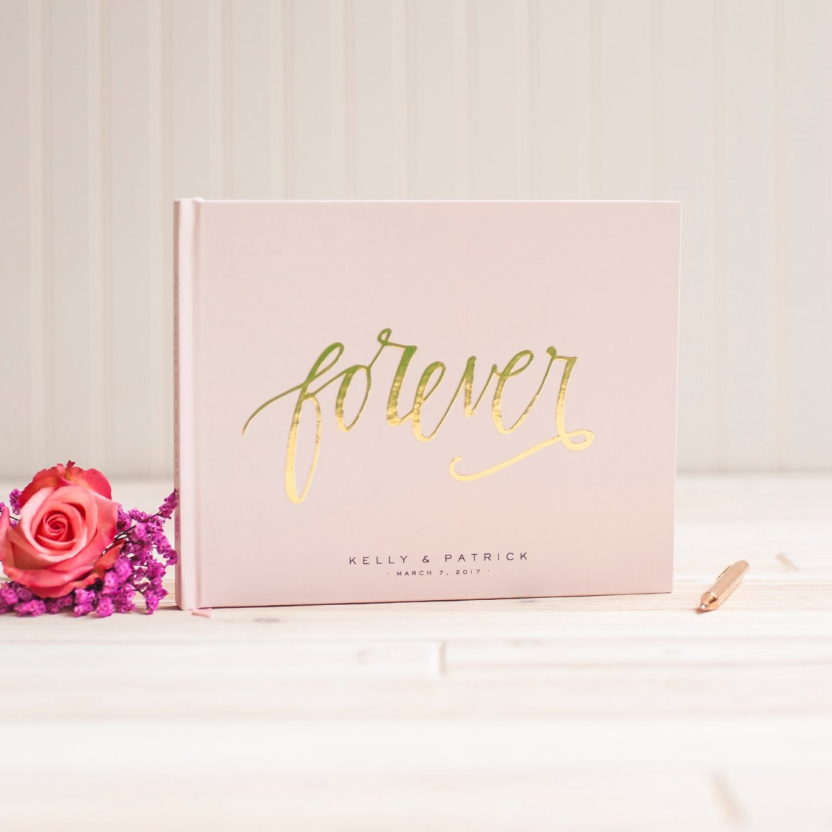 Gold Foil Guest Books for Weddings - By Starboard Press on Etsy