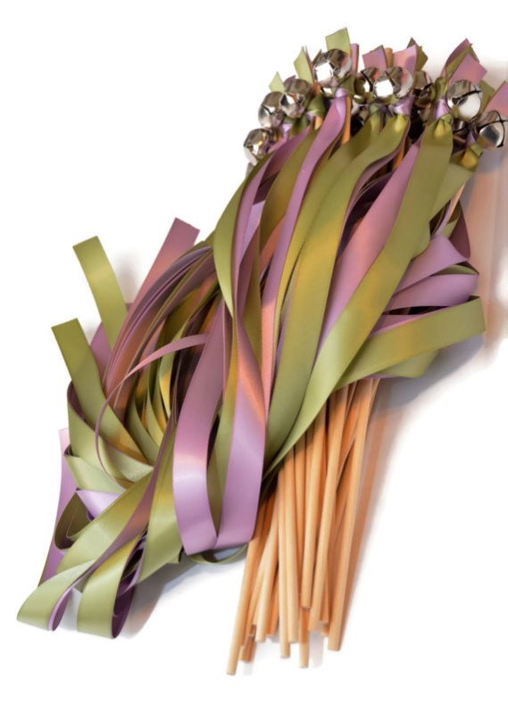 green-and-purple-ribbon-wands