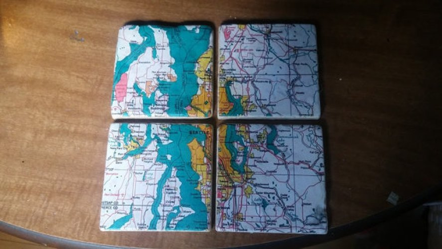 city map coasters