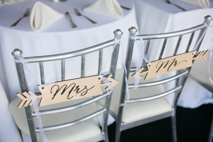 chair signs | via Heart and Arrow Wedding Ideas: http://emmalinebride.com/themes/heart-and-arrow-wedding-ideas