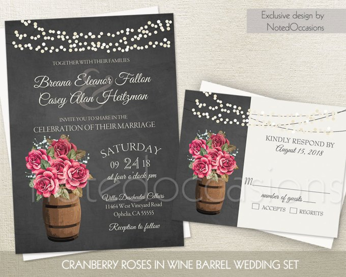 lights roses via free wedding invitations giveaway | http://emmalinebride.com/2017-giveaway/giveaway-win-free-wedding-invitations/