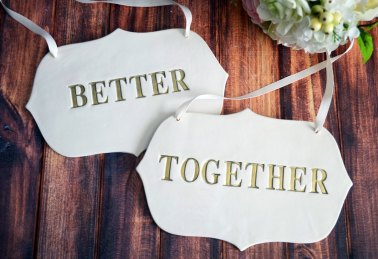 modern better together signs