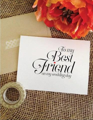 to my best friend on my wedding day