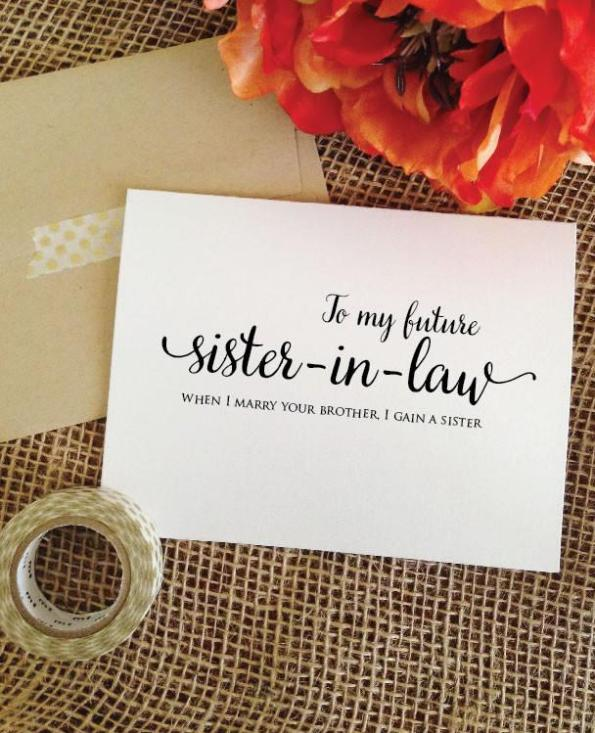 to my future sister in law