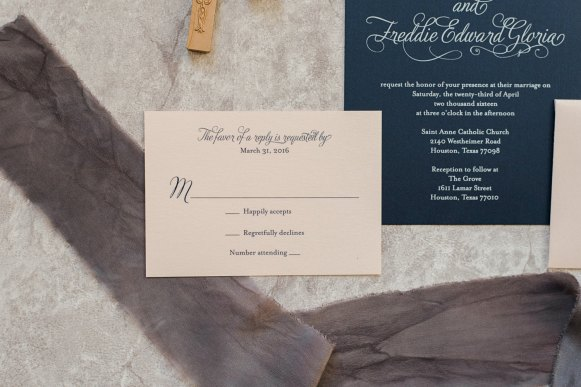 vintage blush and navy invitations 2