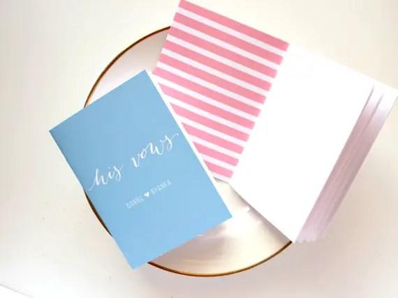 vow books for weddings | http://etsy.me/2kbPdox