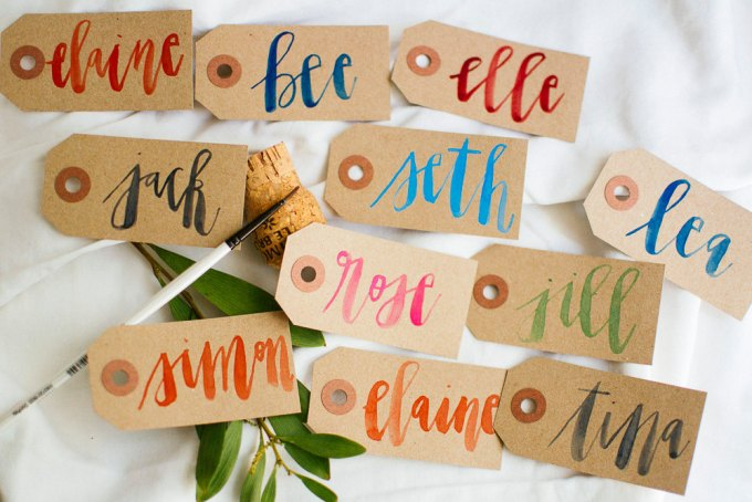 tag place cards for weddings
