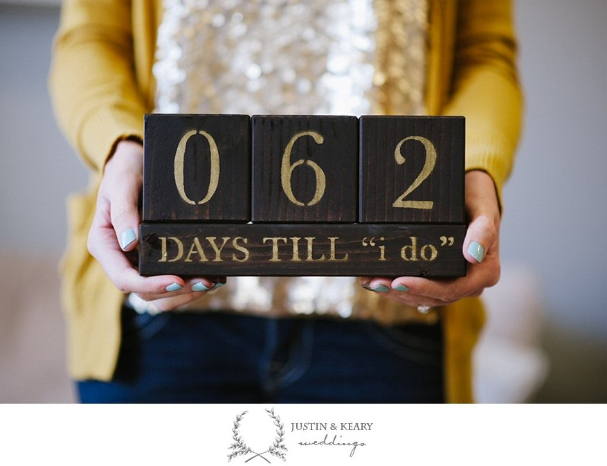 Wedding countdown blocks by Grace & Salt | http://emmalinebride.com/wedding/wedding-countdown-blocks/