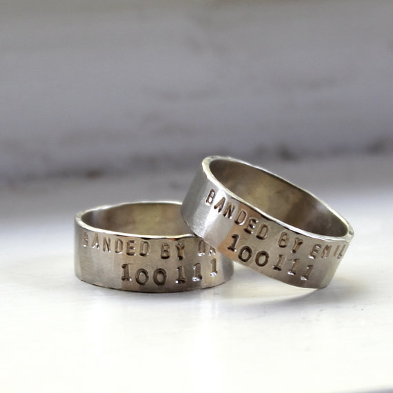 Non Metal Wedding Bands >> 28 Unique Matching Wedding Bands - His & Hers Styles / Couples Rings