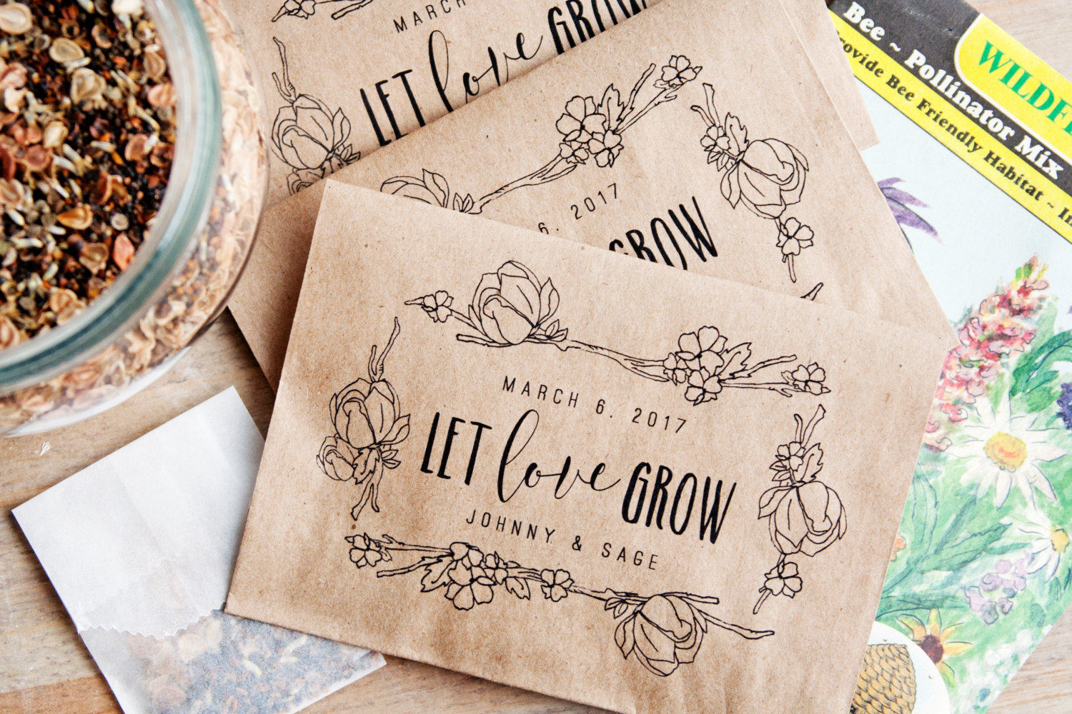 Where to Buy Seed Packet Favors for Weddings   Emmaline Bride