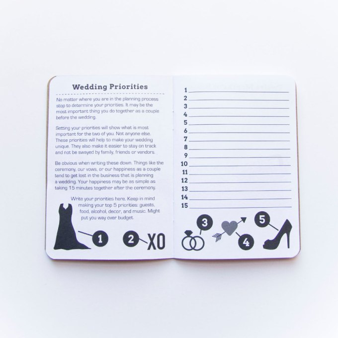 wedding checklist notebook