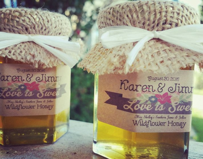 wildflower honey wedding favors for showers