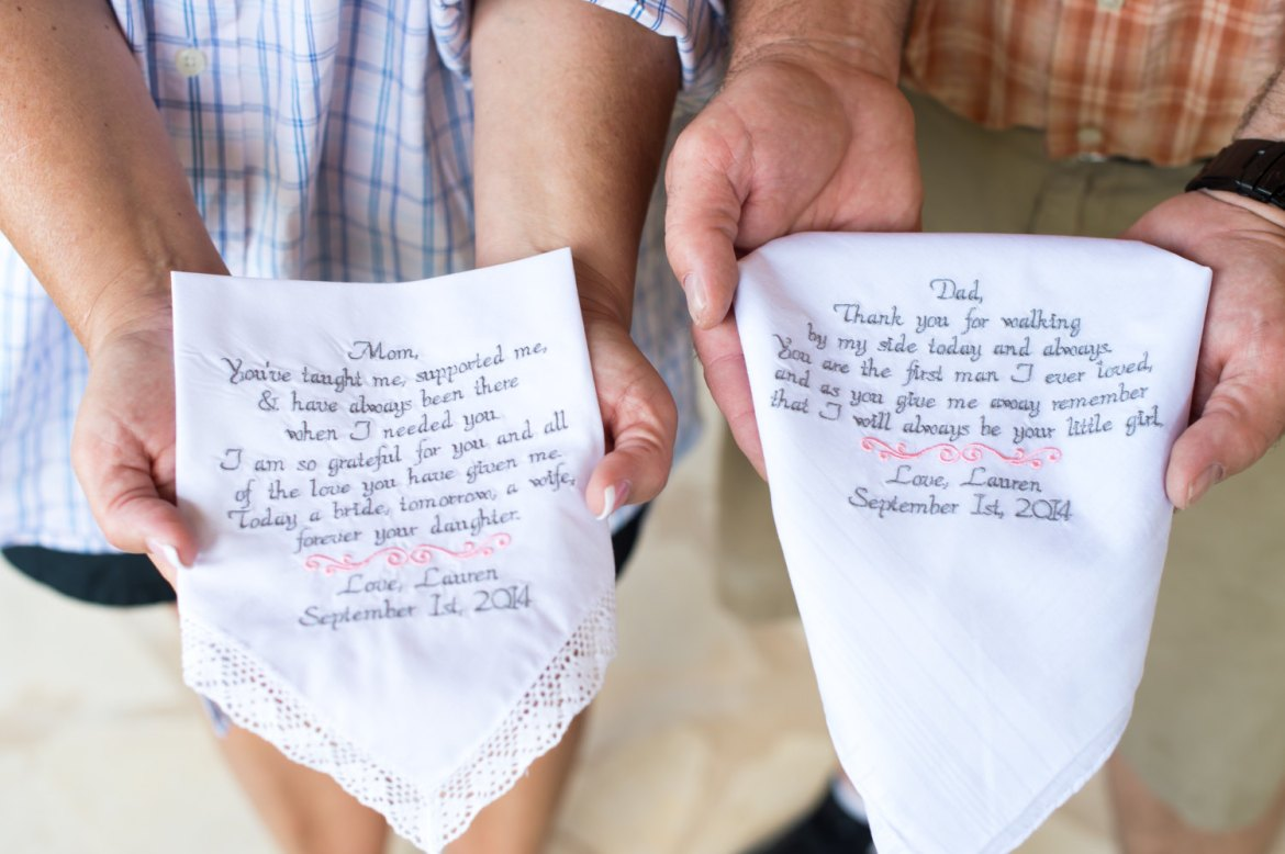 Wedding Gift Ideas For Mom: Mother Of The Bride Handkerchief / Father Of The Bride