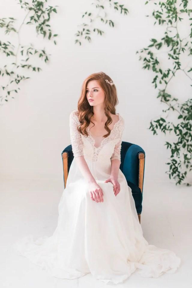 bridal hair accessories + hair down styles - tessa kim