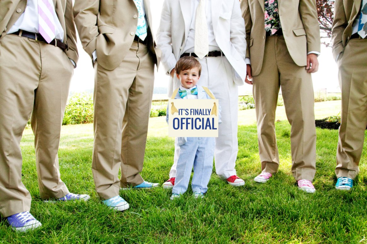 sign for ring bearer to carry - its finally official