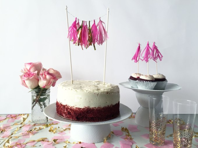 cupcake toppers   festive products   where to buy tassel garland for weddings and parties