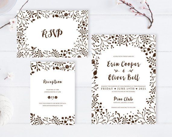 Cheap wedding invitations with rsvp under 2 or less emmaline bride cheap wedding invitations with rsvp card filmwisefo