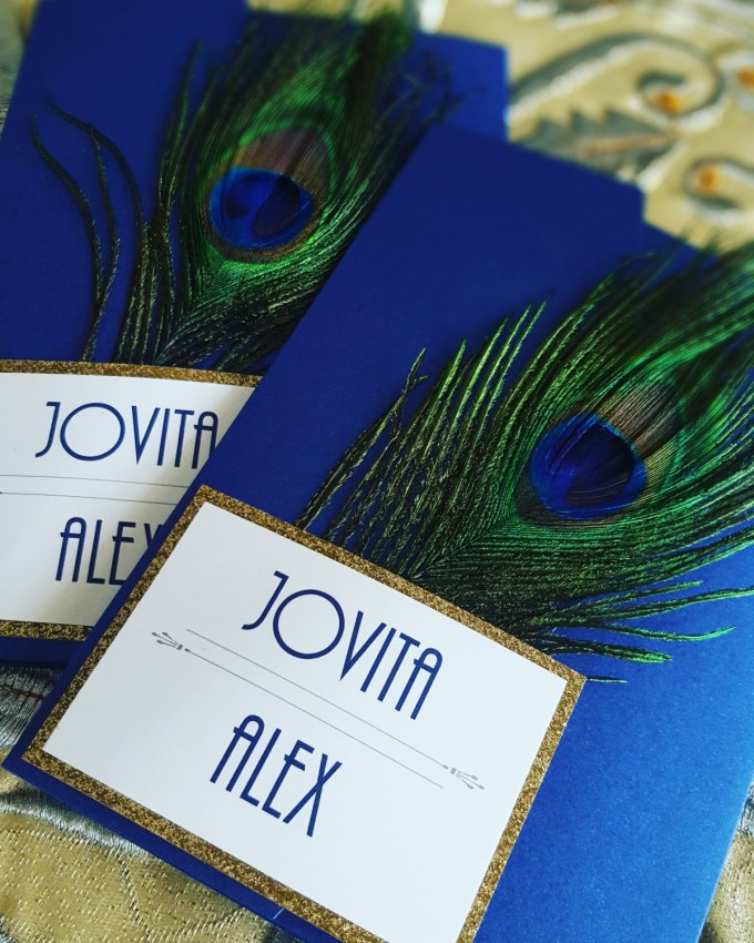 peacock wedding invitations and rsvp cards by i do bliss