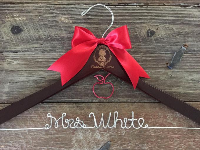 wedding dress hanger personalized