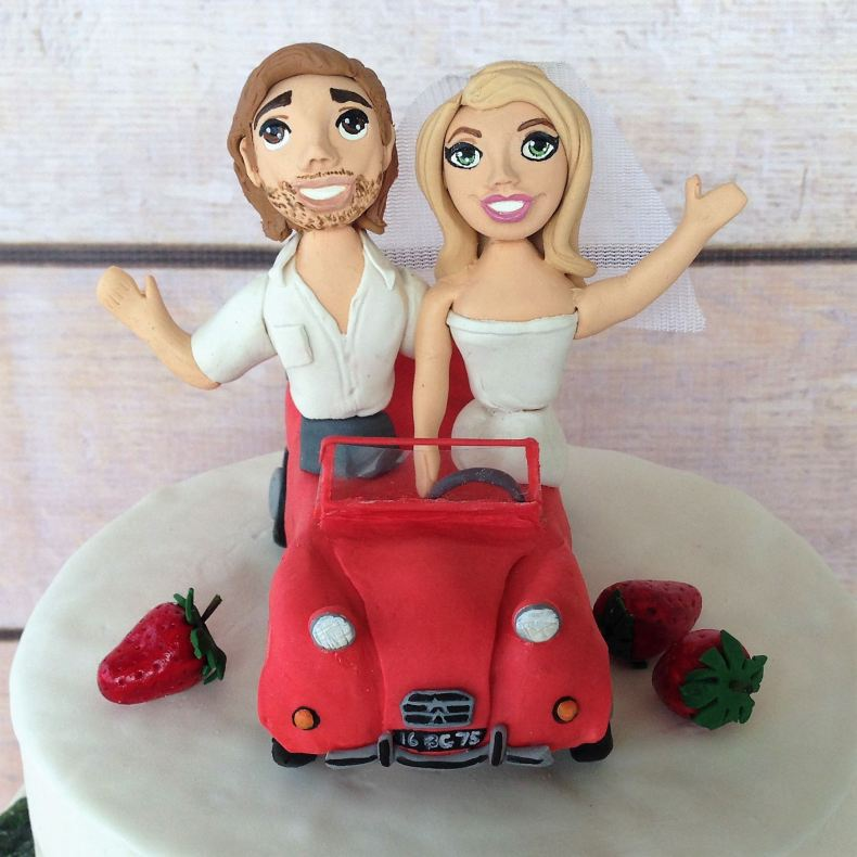 french car cake topper